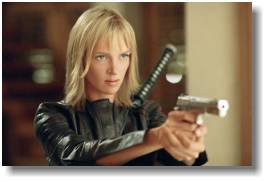 thurman, kill bill, gun, movies, photograph
