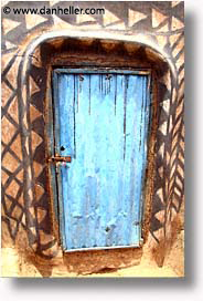 africa, blues, burkina faso, doors, tiebele, vertical, photograph