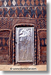 africa, burkina faso, doors, metal, tiebele, vertical, photograph