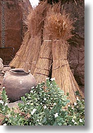 africa, burkina faso, pots, sheaves, tiebele, vertical, photograph