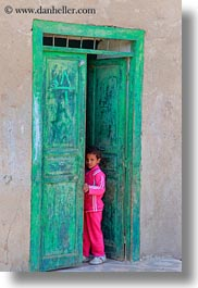 africa, al kab, childrens, doorways, egypt, green, vertical, villages, photograph