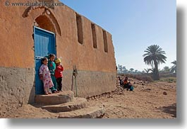africa, al kab, blues, childrens, doors, egypt, horizontal, villages, photograph