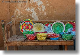 africa, al kab, colorful, egypt, horizontal, plates, straws, villages, photograph
