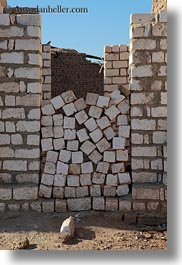 africa, al kab, bricks, egypt, oddly, stacked, vertical, villages, photograph
