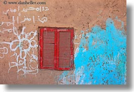 africa, al kab, egypt, horizontal, red, villages, windows, woods, photograph