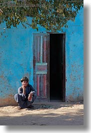 africa, al kab, blues, buildings, clothes, egypt, keffiyeh, men, scarves, squatting, vertical, villages, photograph