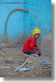 africa, al kab, blues, boys, egypt, toddlers, vertical, villages, walls, photograph