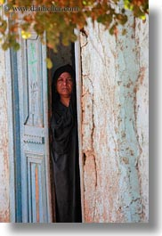 africa, al kab, burka, clothes, doorways, dresses, egypt, vertical, villages, womens, photograph