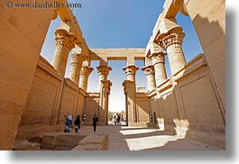 africa, aswan, egypt, horizontal, philae temple, pillars, photograph
