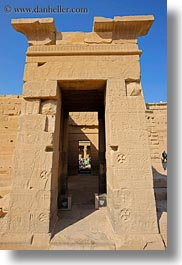 africa, arches, aswan, doors, egypt, philae temple, stones, vertical, photograph