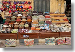 africa, aswan, display, egypt, horizontal, spices, photograph