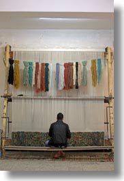 africa, boys, cairo, carpet, carpet shop, egypt, vertical, weaving, photograph