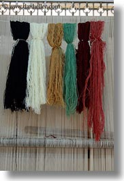 africa, cairo, carpet shop, colorful, egypt, vertical, yarn, photograph