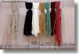 africa, cairo, carpet shop, colorful, egypt, horizontal, yarn, photograph