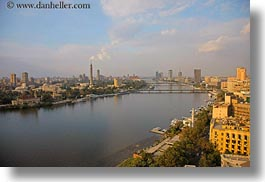 africa, bridge, cairo, cityscapes, clouds, egypt, horizontal, nature, nile, sky, photograph