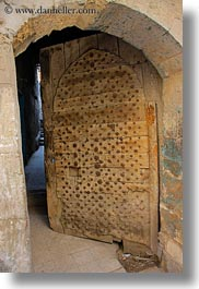 africa, ancient, arches, cairo, coptic, doors, egypt, gothic, vertical, photograph