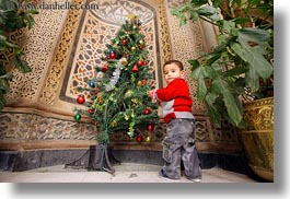 africa, babies, cairo, christmas, coptic, egypt, horizontal, trees, photograph