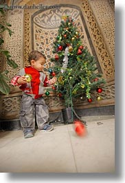 africa, babies, cairo, christmas, coptic, egypt, trees, vertical, photograph