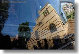 africa, buildings, cairo, coptic, egypt, horizontal, reflections, windows, photograph