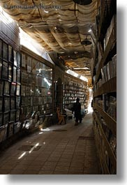 africa, books, cairo, coptic, egypt, halls, vertical, photograph