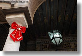 africa, cairo, christmas, coptic, egypt, glow, horizontal, lights, merry, ribbons, photograph