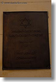 africa, cairo, coptic, egypt, signs, synagogue, vertical, photograph