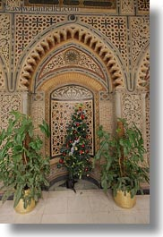 africa, cairo, christmas, coptic, egypt, trees, vertical, photograph