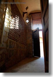 africa, barquk mosque, cairo, doors, egypt, glow, lights, mosques, muslim, open, perspective, religious, upview, vertical, photograph