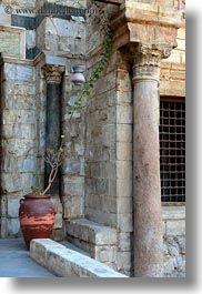 africa, barquk mosque, cairo, egypt, mosques, plants, potted, vertical, photograph