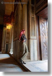 africa, barquk mosque, cairo, clothes, egypt, glow, keffiyeh, lights, mosques, muslim, people, religious, scarves, vertical, victoria, womens, photograph