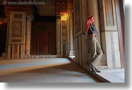 africa, barquk mosque, cairo, clothes, egypt, glow, horizontal, keffiyeh, lights, mosques, muslim, people, religious, scarves, victoria, womens, photograph