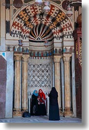 africa, cairo, egypt, girls, kalawoun mosque, mosques, muslim, people, religious, taking, vertical, womens, photograph