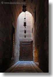 africa, archways, cairo, egypt, hallway, kalawoun mosque, long, mosques, vertical, photograph