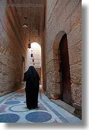 africa, archways, cairo, egypt, glow, hallway, kalawoun mosque, lights, long, mosques, muslim, people, religious, vertical, womens, photograph
