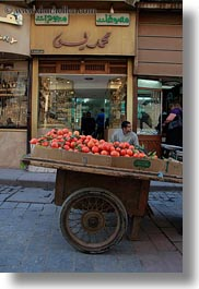 africa, cairo, carts, egypt, fruits, old town, vertical, photograph