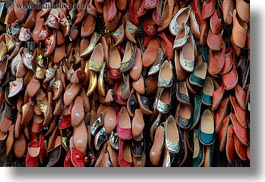 africa, cairo, egypt, hangings, horizontal, old town, shoes, photograph