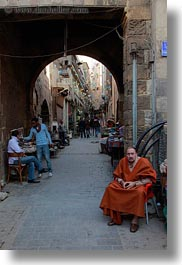 africa, archways, cairo, egypt, market, men, old town, vertical, photograph