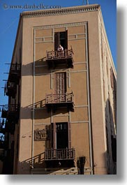 africa, balconies, cairo, egypt, men, old town, vertical, photograph