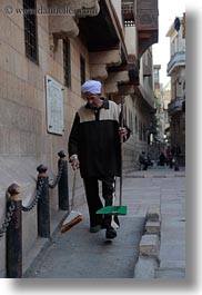 africa, brooms, cairo, egypt, men, old town, vertical, photograph
