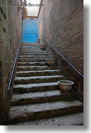 africa, cairo, egypt, old town, pots, stairs, vertical, photograph