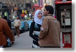 africa, cairo, couples, egypt, horizontal, muslim, old town, young, photograph