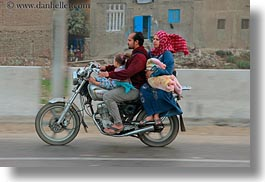 africa, cairo, clothes, egypt, families, horizontal, keffiyeh, motorcyce, people, scarves, photograph