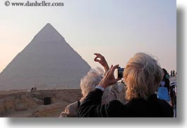 africa, cairo, egypt, horizontal, people, photographing, pyramids, tourists, photograph