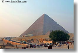 africa, cairo, crowds, egypt, horizontal, pyramids, structures, photograph