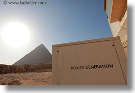 africa, cairo, egypt, horizontal, power, pyramids, solar, structures, photograph
