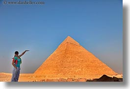 africa, cairo, egypt, horizontal, people, pyramids, structures, tourists, womens, photograph
