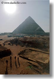 africa, cairo, egypt, pyramids, shadows, structures, vertical, walking, photograph