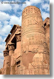 africa, columns, egypt, egyptian, kom ombo temple, vertical, photograph