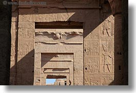 africa, doors, egypt, frames, horizontal, kom ombo temple, temples, photograph