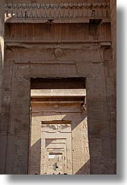 africa, doors, egypt, frames, kom ombo temple, temples, vertical, photograph